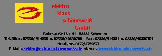 Elektro Klaus Schöneweiß Shop